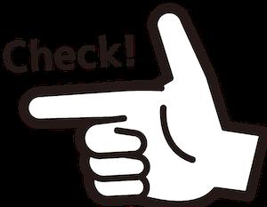 親指と人差し指をL字にして鉄砲指に様にしているイラスト